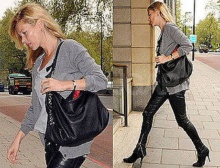 Pictures of Kate Moss With a Sparkly Ring in London