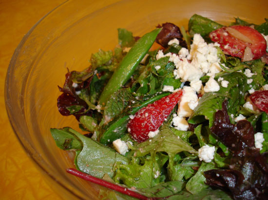 Strawberry Mint Salad