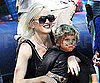 Slide Picture of Gwen Stefani and Kingston Rossdale at Birthday Party