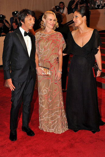 Pier Paolo Piccioli and Maria Grazia Chiuri with Kate Bosworth in Valentino Couture