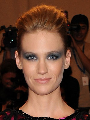 January Jones at 2010 Costume Institute Gala