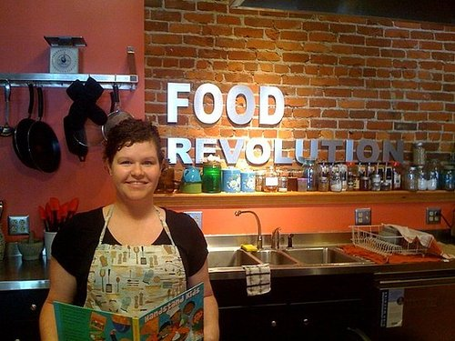 Food Revolution: Kids Cookbooks in Jamie Oliver's Huntington Kitchen