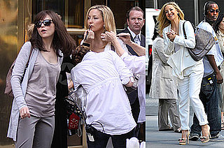 Pictures of Kate Hudson Filming Something Borrowed With Ginnifer Goodwin in NYC