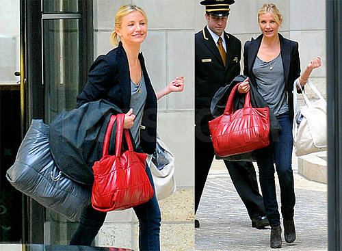 Photos de Cameron Diaz qui sort de l'appartement d'Alex Rodriguez a NY