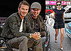 Pictures of David Beckham at a Lakers Game; Victoria Beckham Shopping in London