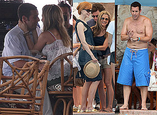 Pictures of Jennifer Aniston, Shirtless Adam Sandler And Nicole Kidman Filming Just Go With It in Hawaii