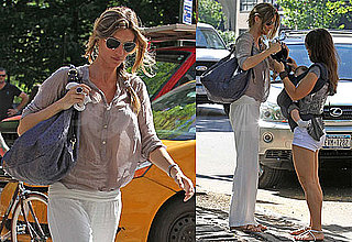 Pictures of Gisele Bundchen Walking With Son Benjamin Brady in NYC