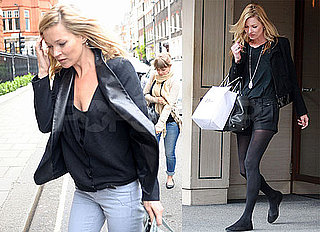 Pictures of Kate Moss Working in London Amid Rumors of Hiring Banksy to Decorate Her Home