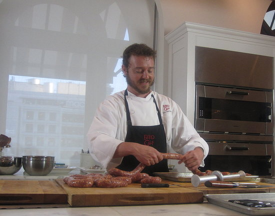 Learn How Taylor Boetticher of the Fatted Calf Makes His Hand-Cut Chorizo