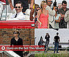 Pictures of Jennifer Aniston, John Hamm, Angelina Jolie, Kristen Stewart, and Taylor Lautner on the Set