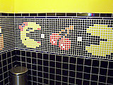 Totally Geeky or Geek Chic? Pac-Man Bathroom