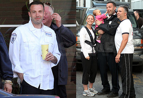Pictures of Hot Ben Affleck Filming The Town in Boston