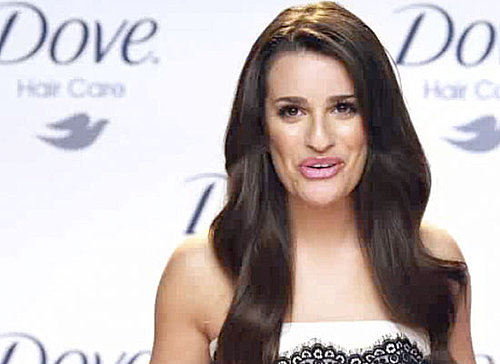 Glee's Lea Michele in New Dove Shampoo Ad!