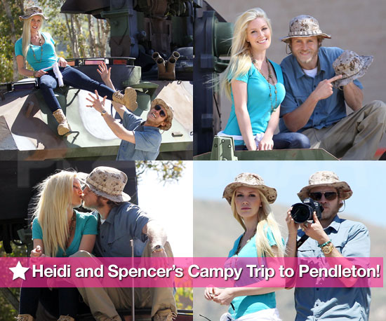 Pictures of Heidi Montag and Spencer Pratt at Camp Pendleton