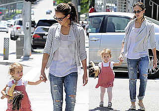 Pictures of Honor Warren Walking With Jessica Alba in LA