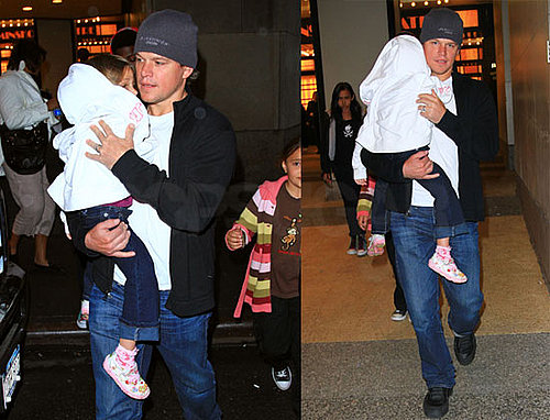 Pictures of Matt Damon Taking Daughter Isabella Damon to See The Lion King in NYC