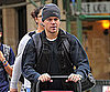 Slide Picture of Matt Damon Pushing Stroller in New York