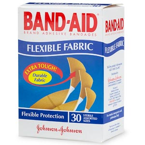 When the deed is done, try to match your skin color to a flexible fabric band-aid. I prefer these Band-Aid Flexible Fabric Adhesive Bandages, Assorted ($4). They'll move better with your foot than plastic bandages.