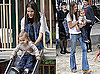 Pictures of Alessandra Ambrosio With Daughter Anja Mazur Playing in NYC