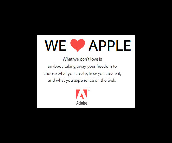 Adobe Responds to Apple