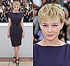 Carey Mulligan in Plum Roland Mouret at Cannes Film Festival Wall Street: Money Never Sleeps Press Conference