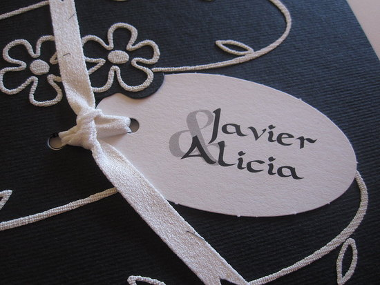The bride, Alicia, designed the invite.