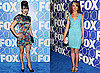 Photos of Glee Stars Lea Michele and Jayma Mays at Fox Upfront Party