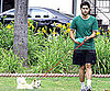 Slide Picture of Adrian Grenier Walking Dog in LA
