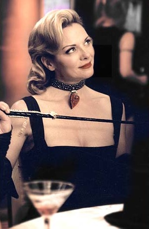 A bit of dominatrix couture — par for the course if you're Samantha Jones.