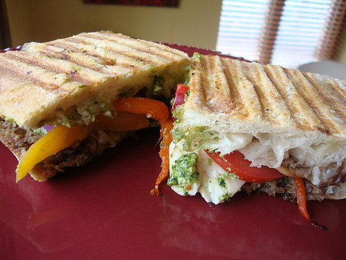 Vegetable Panini with Pesto