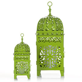 Z Gallerie - Casablanca Lanterns - Green