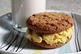 Gingersnap with Mango Curry Ice Cream Sandwich