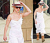 Pictures of Britney Spears in a White Dress and Uggs