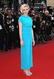 Kirsten Dunst doesn't usually wear bright hues, but she did at Cannes in this Chanel resort dress.