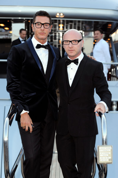 Stefano Gabbana and Domenico Dolce at Naomi Campbell's party. Always a hot pair, these two.