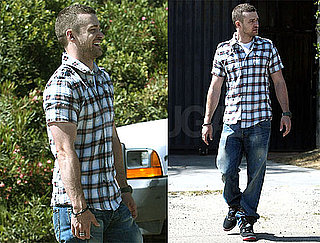Pictures of Justin Timberlake Wearing a Plaid Shirt in LA