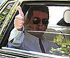 Slide Picture of Simon Cowell Arriving at American Idol