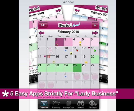 "5 Easy Apps Strictly For ""Lady Business"""