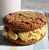Savory Sight: Gingersnap and Mango Curry Ice Cream Sandwich