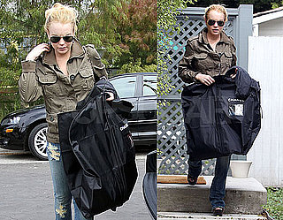 Pictures of Lindsay Lohan After a Shopping Trip in LA