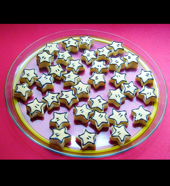 Make Mario Star Cookies