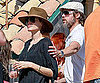 Slide Picture of Brad Pitt and Angelina Jolie Drinking at the Beach