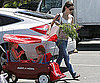 Slide Picture of Jennifer Garner With Seraphina and Violet at Farmer's Market
