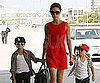 Slide Picture of Victoria Beckham at LAX With Cruz and Romeo