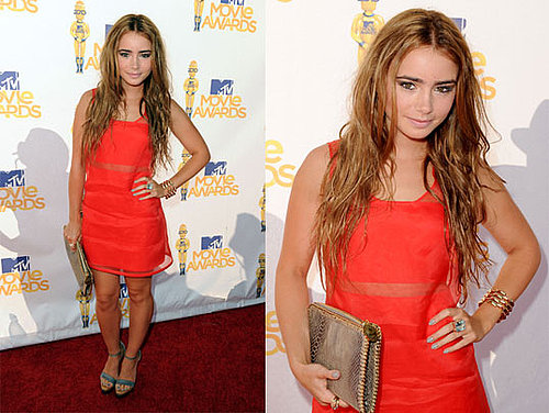 Lily Collins at 2010 MTV Movie Awards 2010-06-06 18:37:10