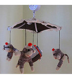 Custom Sock Monkey Mobile