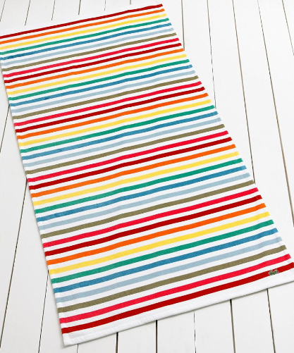 Lacoste Sunrise Beach Towel ($30, originally $40)