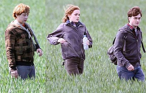 Pictures of Daniel Radcliffe, Rupert Grint and Emma Watson Filming Final Harry Potter Scenes