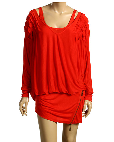 L.A.M.B. Red Drape Dress ($214)
