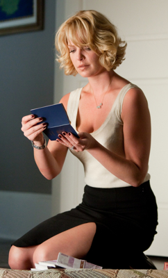 Katherine Heigl in Black Skirt and Tank in Killers